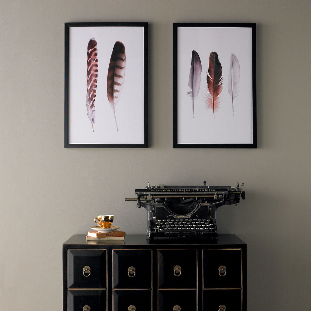 Feather Duo Framed Wall Art Print, , large