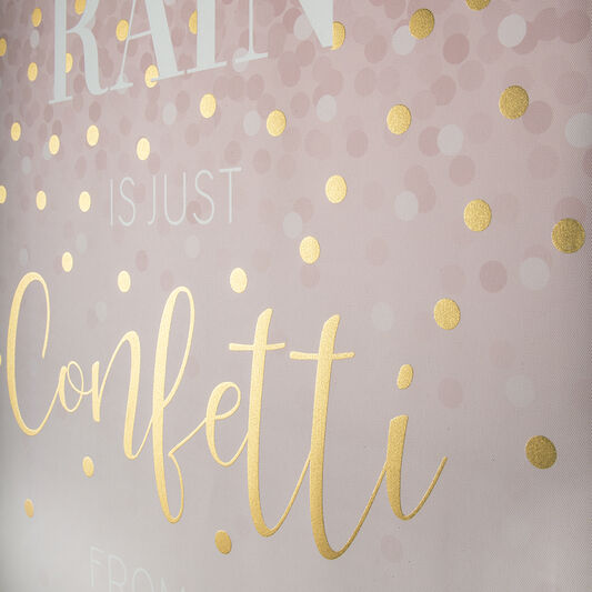 Confetti Typography Wall Art, , large