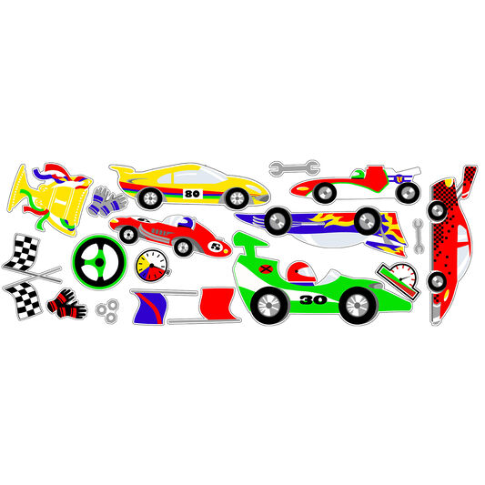 Stickers Muraux Pit Stop, , large