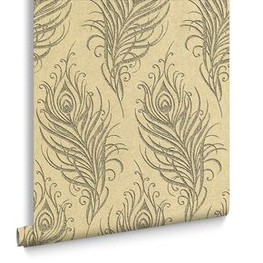 Quill Gold Behang, , large