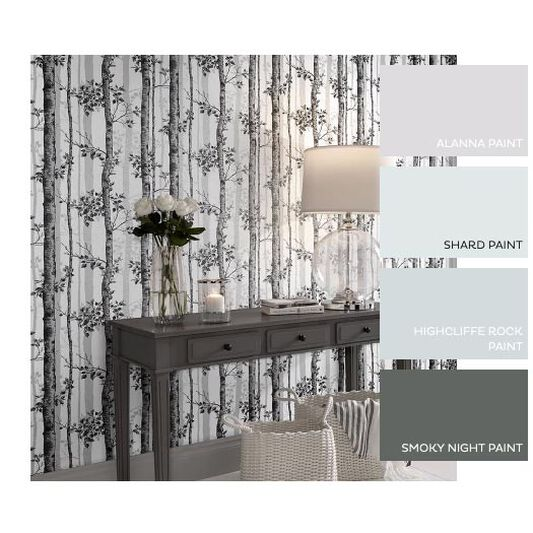Albero Black And White Wallpaper, , large