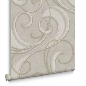 Flamenco Taupe & Champagne Behang, , large