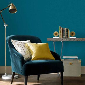 Jewel Teal Plain Wallpaper, , large