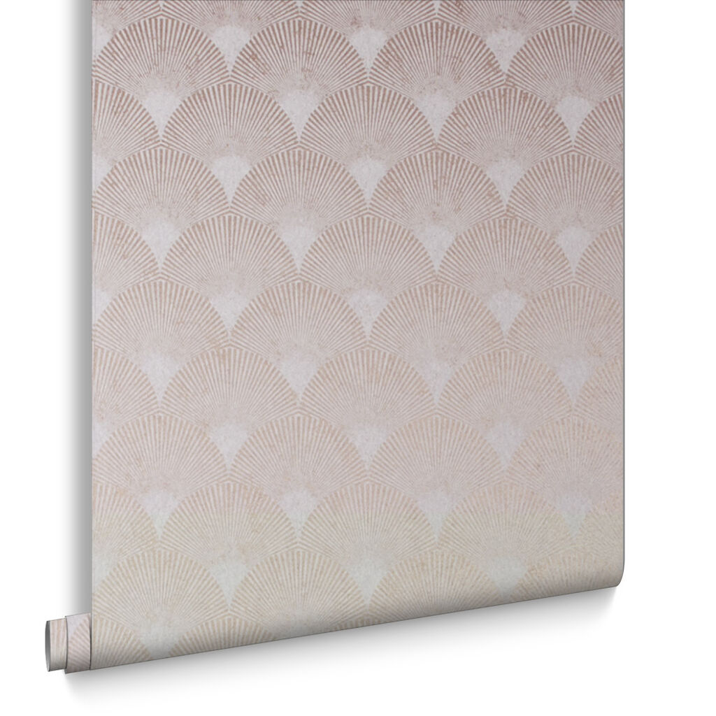 Fan Rose Gold Wallpaper, , large