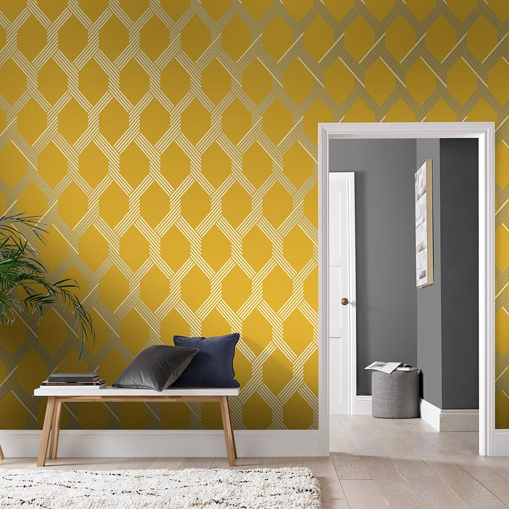 Vector Lemon Silver Wallpaper, , large