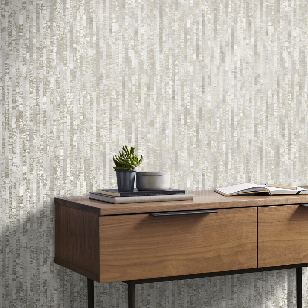 Betula Soft Gold Wallpaper, , large
