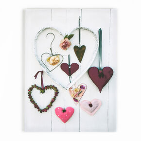 Hearts Compendium Printed Canvas, , large
