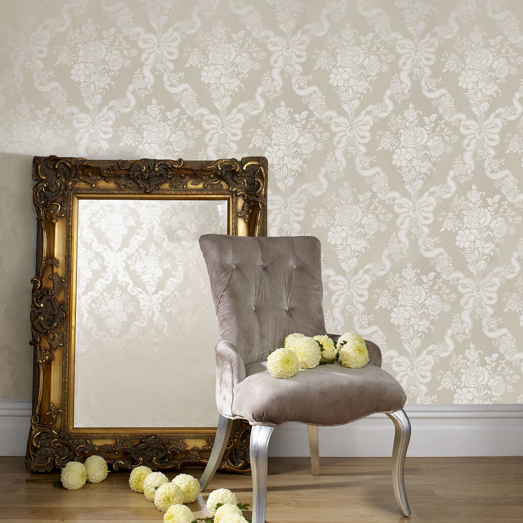 Glimmerous Taupe Wallpaper, , large