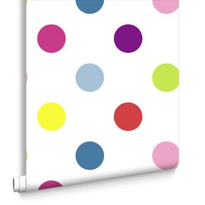 Dotty Multi Bright Behang, , large