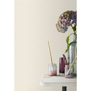 Weave Cream Wallpaper, , large