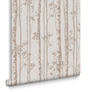 Linden Pebble and Rose Gold Wallpaper, , large