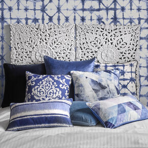 Indian Ink Blue Pillow, , large