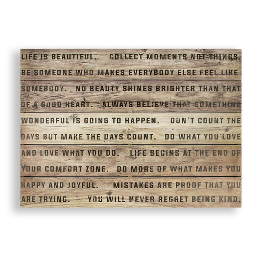Life Is Beautiful Print On WoodWall Art, , large