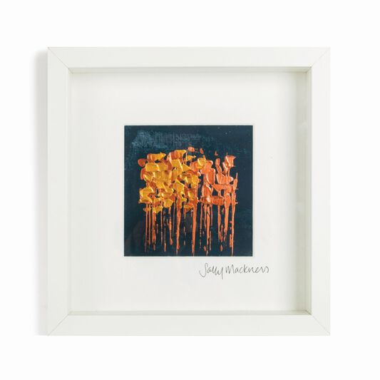 Sally Mackness Copper Abstract Meadow Hand Painted Framed Wall Art ...