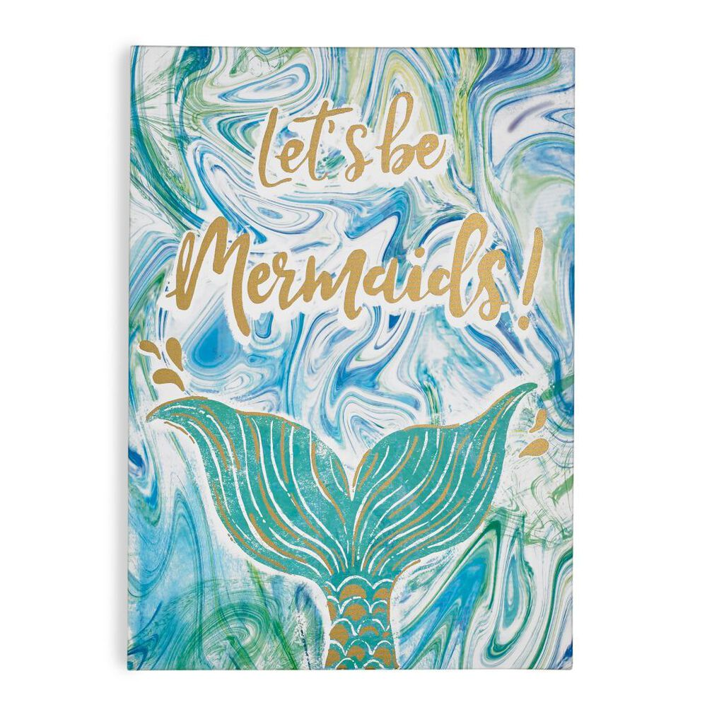 Lets Be Mermaids Printed Canvas Wall Art, , large