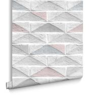 Geo Brick Blue Wallpaper, , large