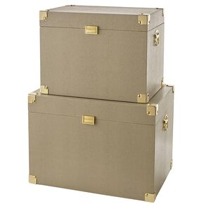 Faux Reptile Skin Set Of 2 Trunks, , large
