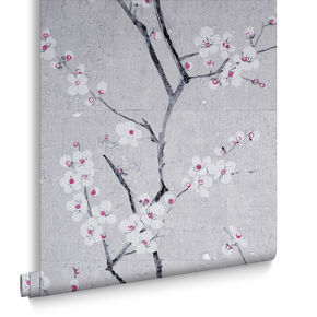 Soft Gray Sakura Wallpaper , , large