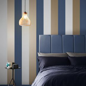 Figaro Navy Wallpaper, , large