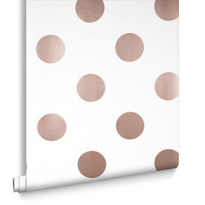 Papier Peint Dotty Or Rose, , large
