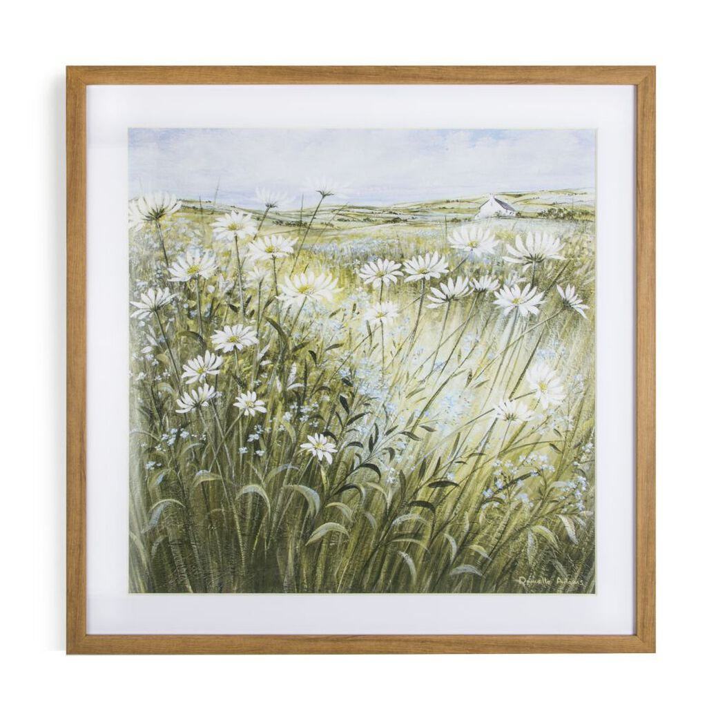 Daisies and Forget Me Nots Framed Wall Art Print, , large