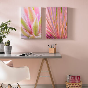 Blushed Tropics Printed Canvas Wall Art, , large