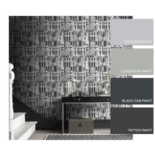 Quarters Steel Wallpaper, , large
