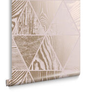 Geo Grain Blush & Rose Gold Wallpaper, , large
