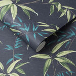 Oriental Bamboo Midnight Wallpaper