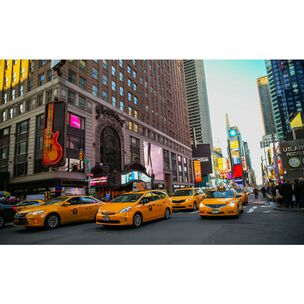 Yellow Taxi Wall Mural, , large