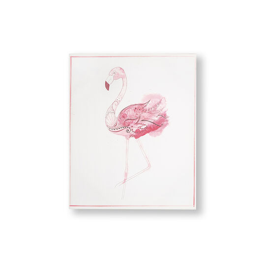 Fabulous Flamingo Printed Canvas Wall Art, , large