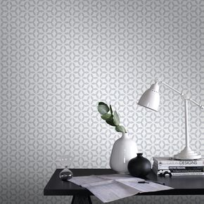 Helice Silver Wallpaper, , large
