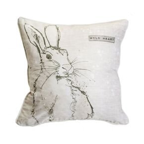 Wild Heart Hare Pillow , , large