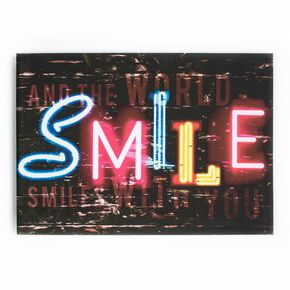 Smile Printed Canvas Wall Art, , large