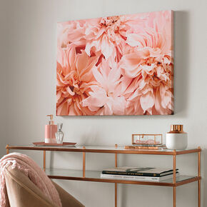 Blushing Blooms Printed Canvas Wall Art, , large