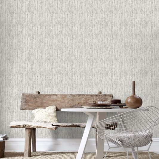 Devore White and Silver Wallpaper, , large