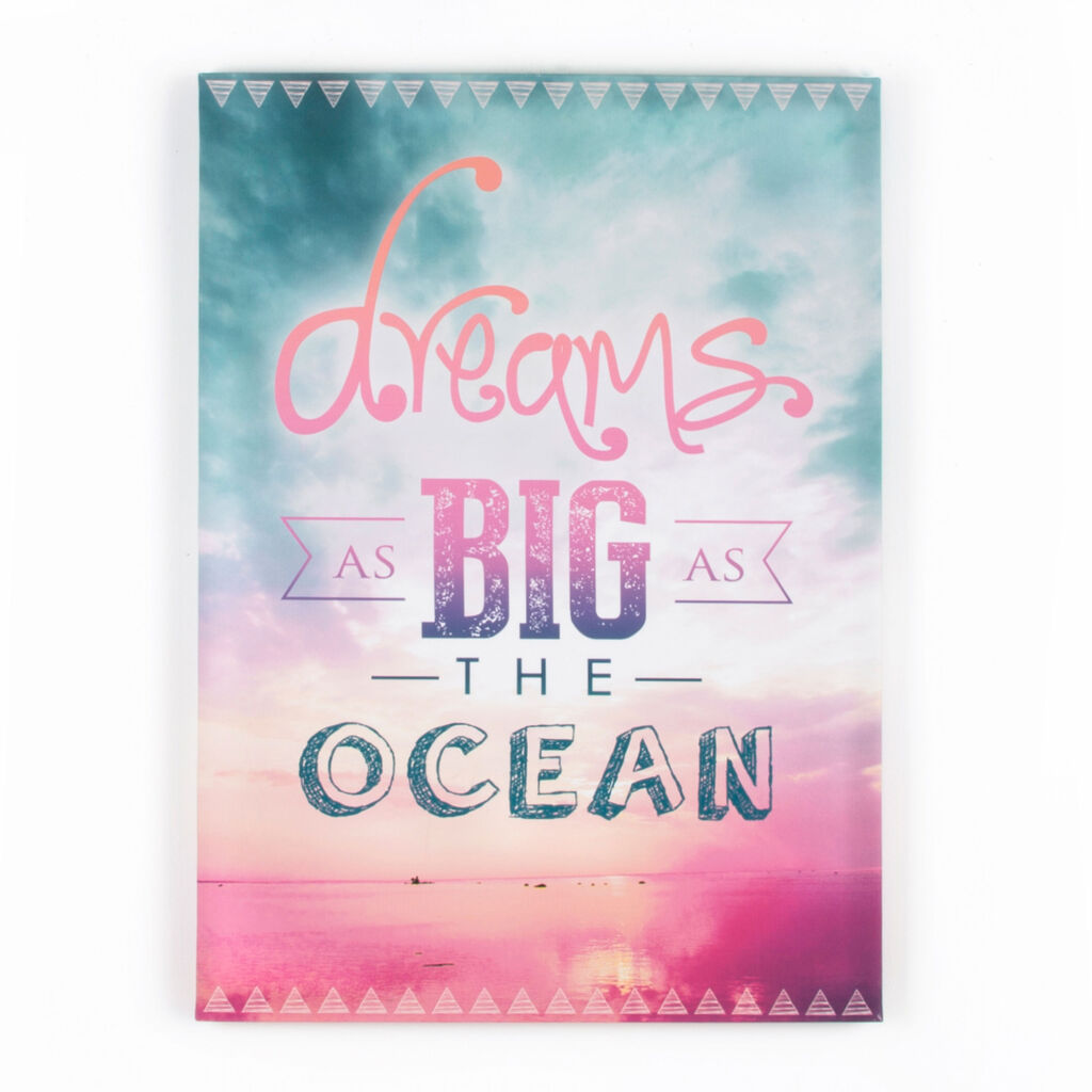 Dreams As Big As The Ocean Printed Canvas Wall Art, , large