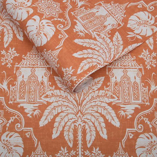 Imperial Orange Behang, , large