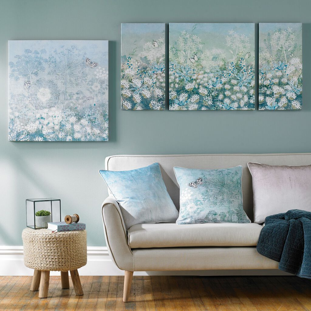 Spring Floral Printed Canvas Wall Art, , large