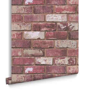 Red Brick Behang, , large