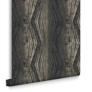 Vermeil Stripe Charcoal Wallpaper , , large