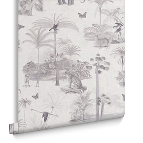Tropique Zoo Canvas Wallpaper, , large