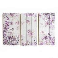 Birds And Butterflies Print On Wood Wall Art, , large