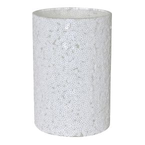 Sequined Small White Vase, , large