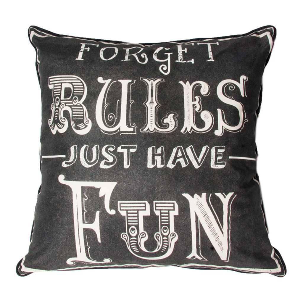 Forget Rules Pillow, , large