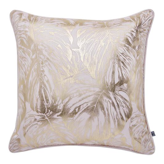 Tropical Leaves Blush Cushion, , large