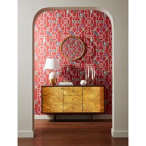 Bird Cage Rouge Wallpaper, , large