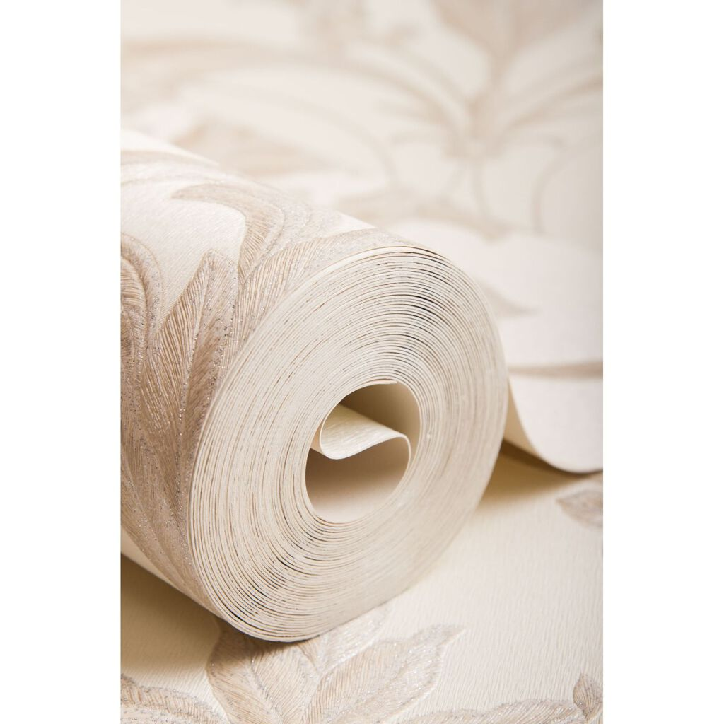 Oxford Pearl and Taupe Wallpaper, , large
