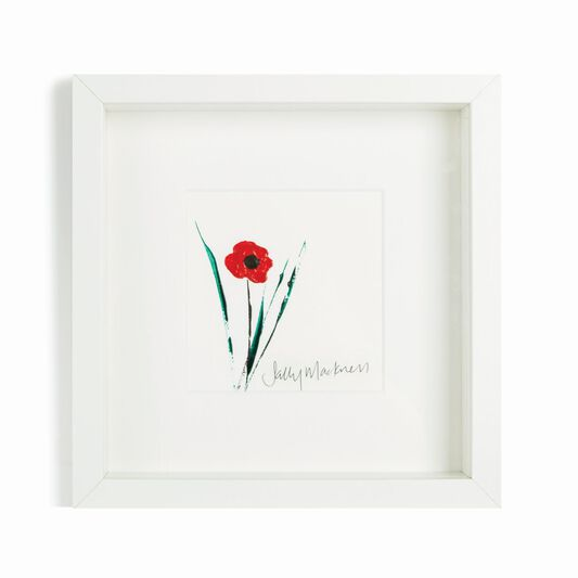 Sally Mackness Poppy Hand Painted Framed Wall Art, , large