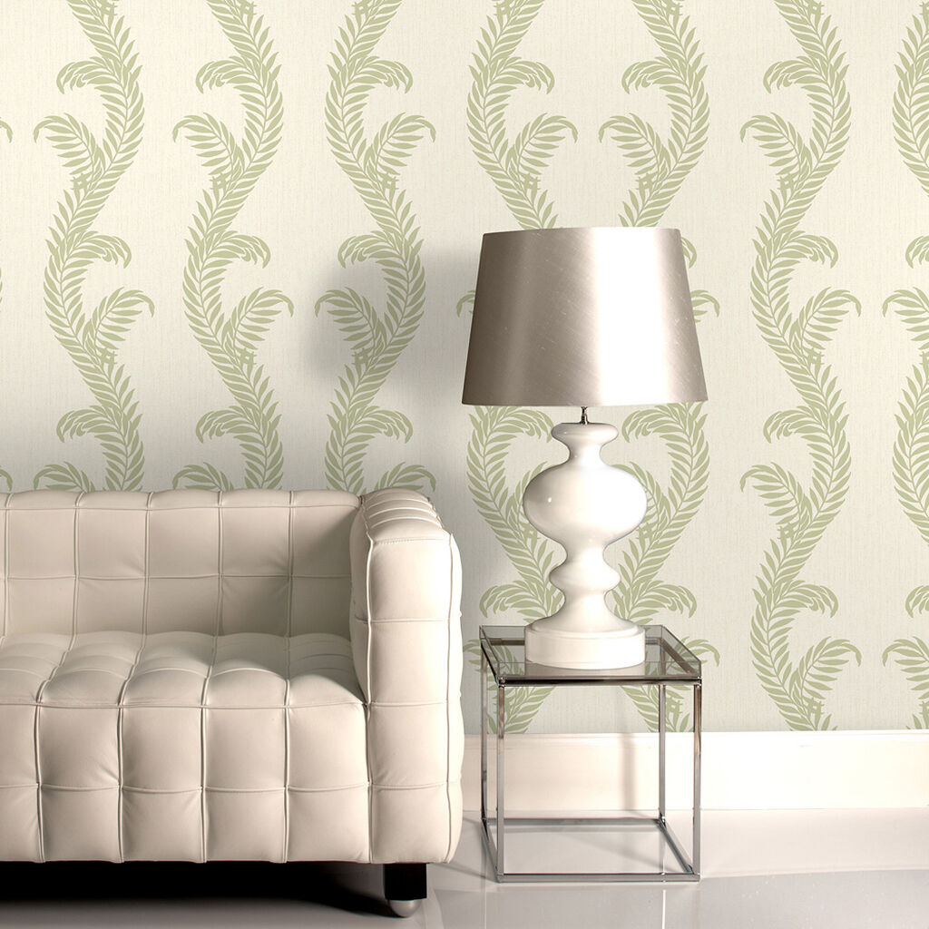 Venus Cream and Green Wallpaper, , large